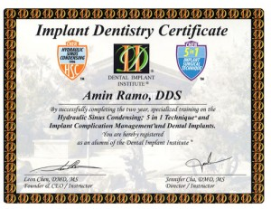 Implant Dentistry Certificate